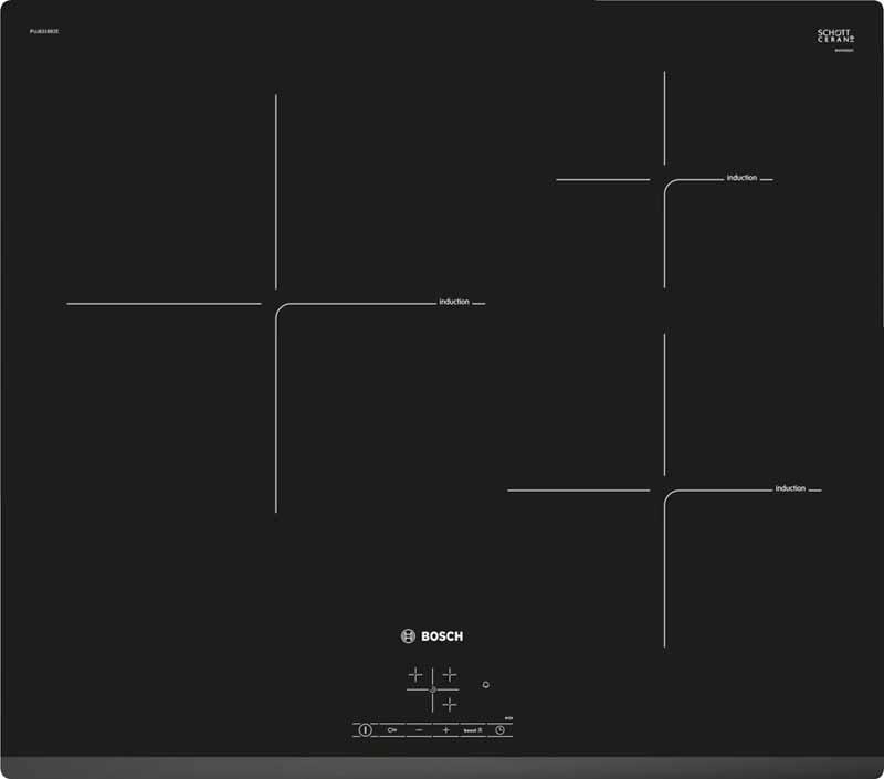 Placa de Inducción BoschPUC631BB2E de 3 Zonas