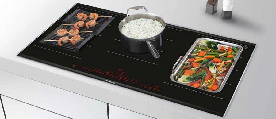 Cocina de inducción Bosch, con parrilla grill
