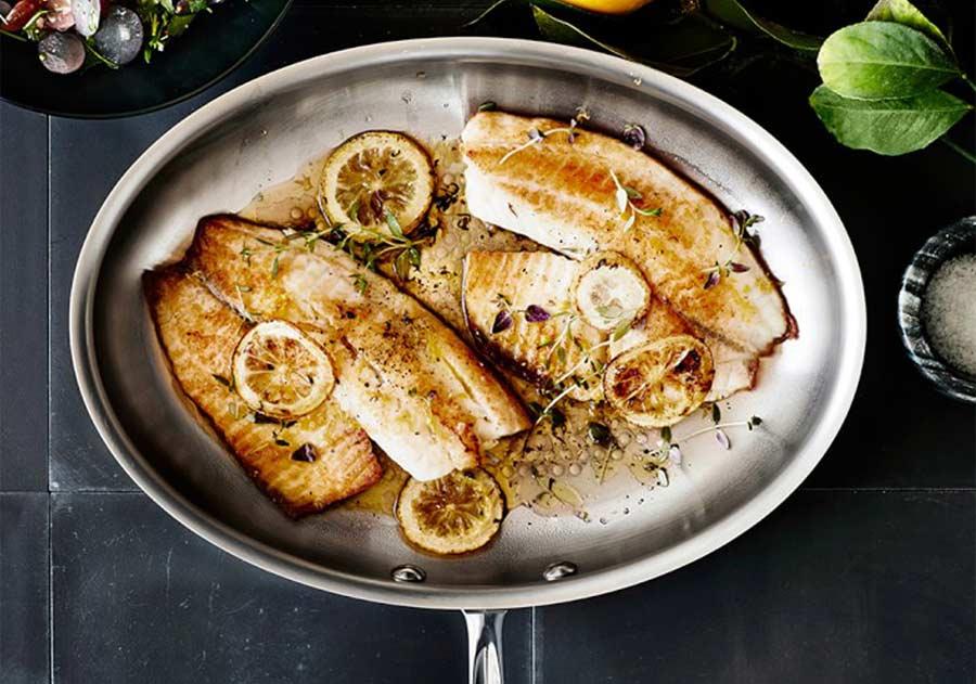 Sartenes pescado acero inoxidable ovalada