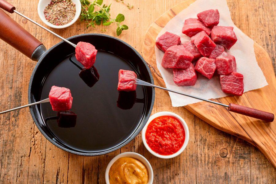 como hacer fondue de carne