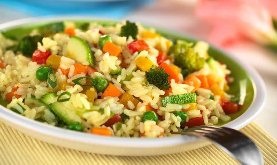 Arroz con verduras olla presion