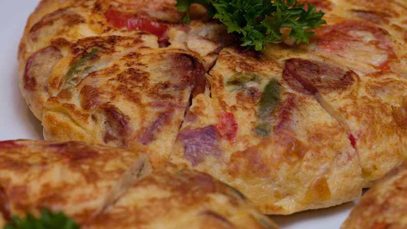 Receta Tortilla Española con chorizo