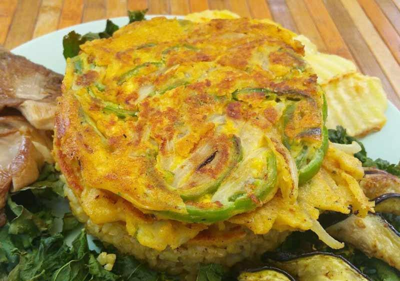 Receta Tortilla vegetariana